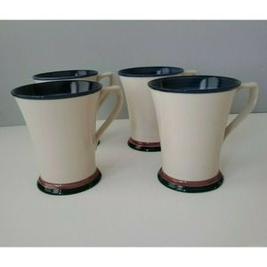 Concentrics Blue by Noble Excellence 4 Coffee Mugs